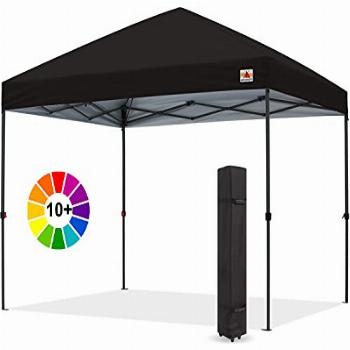 ABCCANOPY Durable Easy Pop up Canopy Tent 10x10, Black
