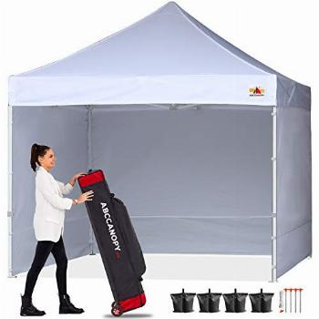 ABCCANOPY Ez Pop Up Canopy Tent with Sidewalls Commercial