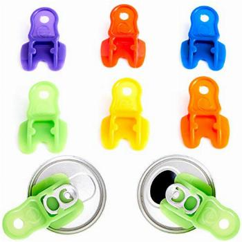 Color Coded Drink Shield and Soda Protector for Family, 6Pk