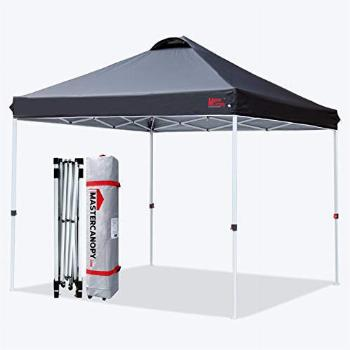MASTERCANOPY Durable Ez Pop-up Canopy Tent with Roller Bag