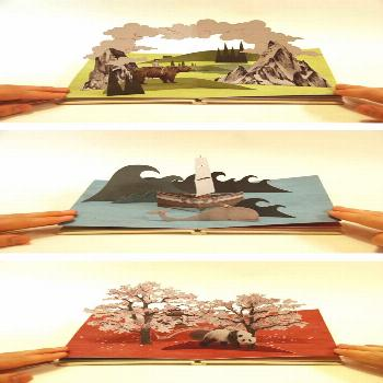 """Owen Gatley  """"'Pop-Up Book', This pop-up book follows a small boy's daily walk with his dog"""