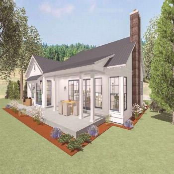Ranch House Plans One Story Covered Porches Landscape architecture Landscape architecture       ran