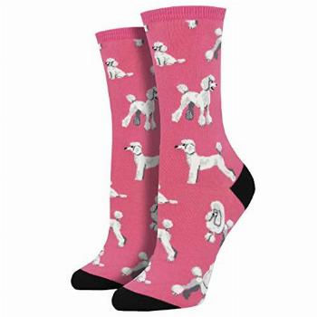 Socksmith Oodles Of Poodles Pink 9-11 (Women's Shoe Sizes