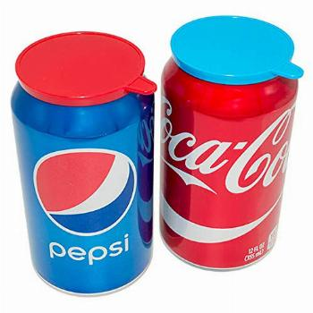 Soda Pop Tops - 12 Pack Can Lid Covers, Assorted