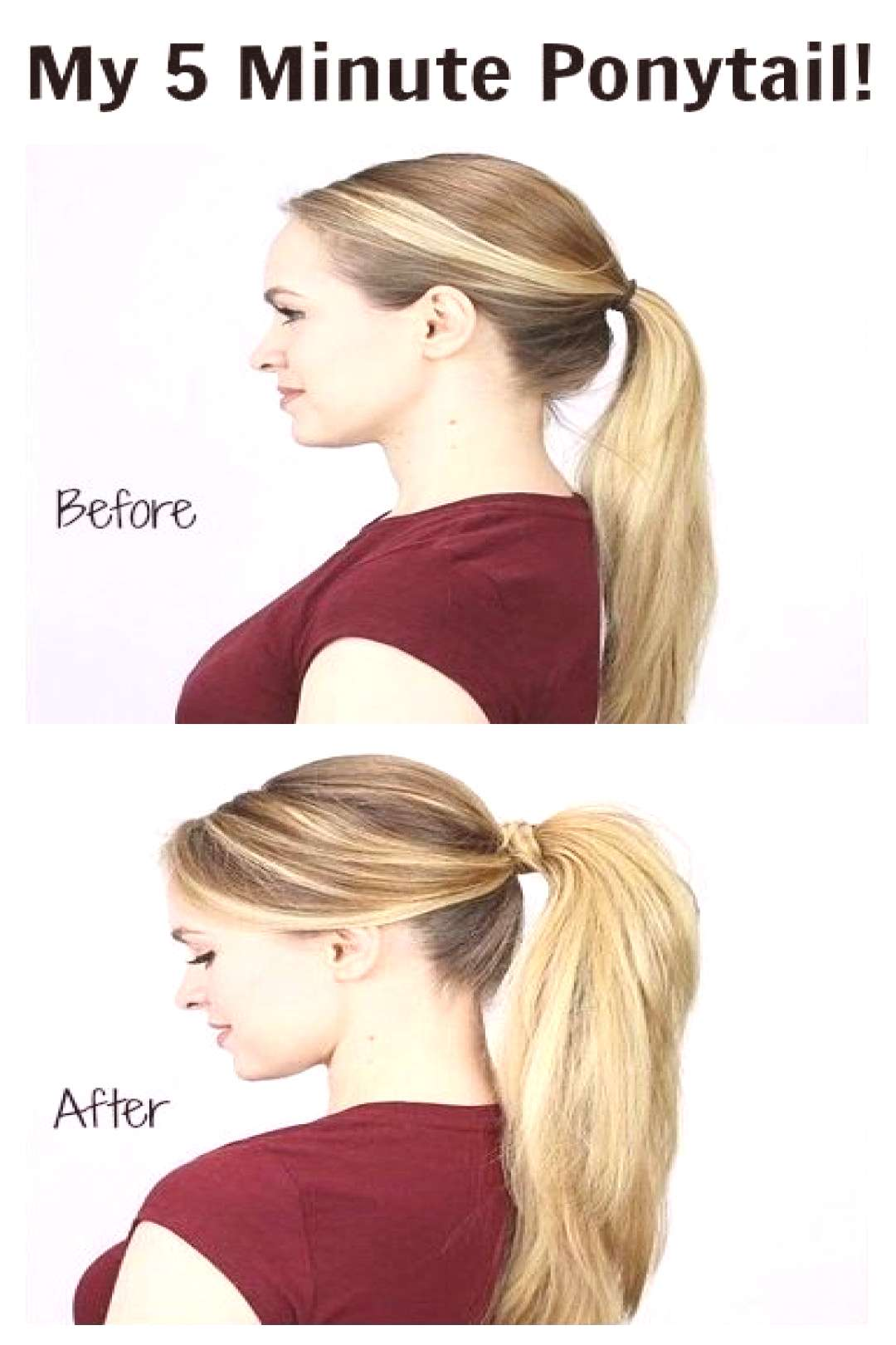 A bumped up pony hairstyle is an easy way to add an alluring touch to your look. They're chic,