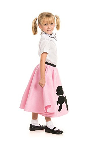 Kidcostumes Poodle Skirt with Musical Note Printed Scarf